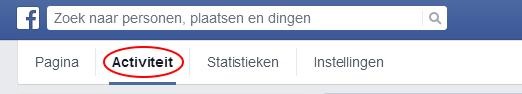 Facebook tab activiteit