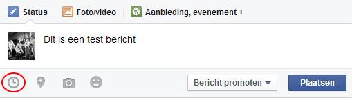 Facebook bericht schrijven